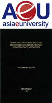 THE DEVELOPMENT OF HUMAN RESOURCE PRACTITIONER COMPETENCY MODEL PERCEIVED BY MALAYSIAN HUMAN RESOURCE PRACTITIONERS AND CONSULTANTS
