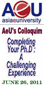 AeU's Colloquim || Completing Your Ph.D : A Challenging Experience