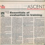 Essentials of EValuation in Training